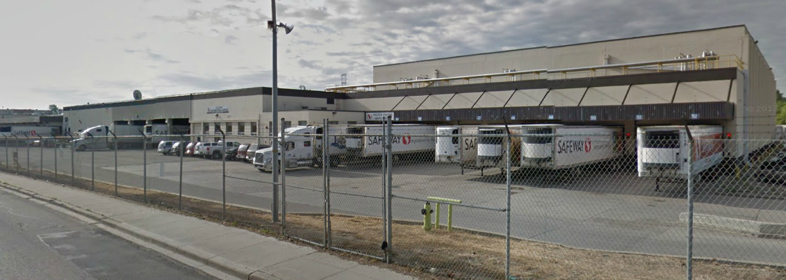 Former Safeway Distribution Center on  42nd St SE in Calgary, Alberta, Canada