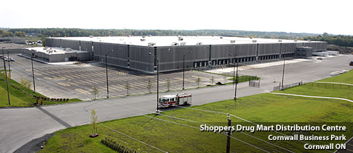 Shoppers Drug Mart Distribution Center Cornwall, ON - Photo courtesy of choosecornwall.ca