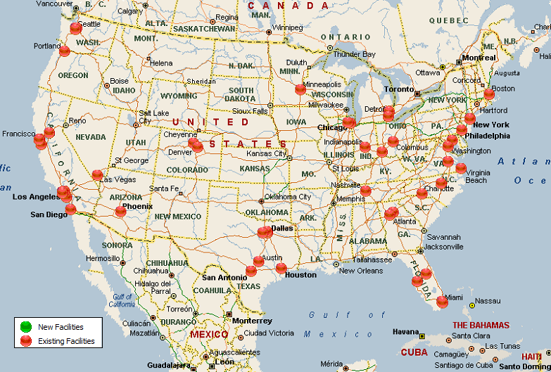 Amazon Distribution Centers Map