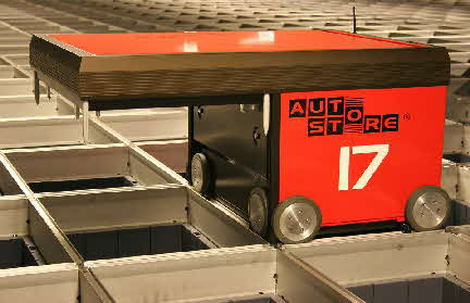 AutoStore Robot. Picture courtesy of Swisslog.
