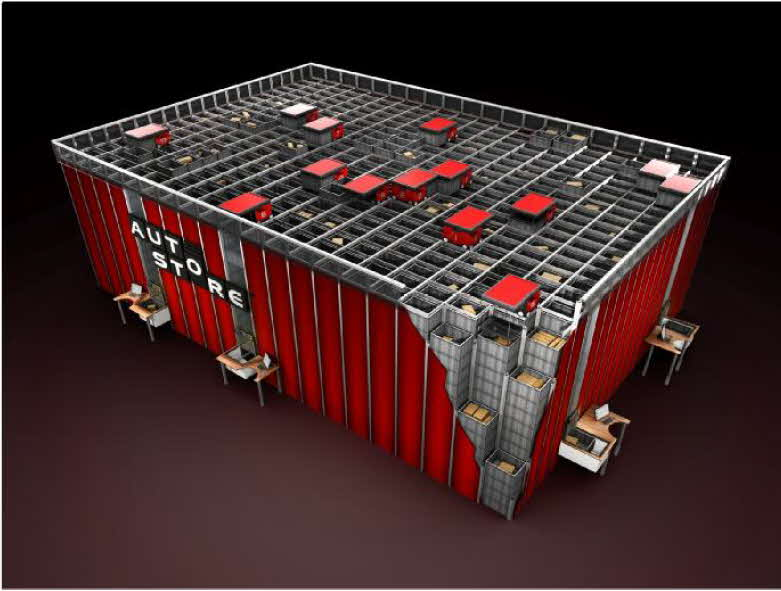 The AutoStore Semi-automated Storage System. Picture courtesy of Swisslog.
