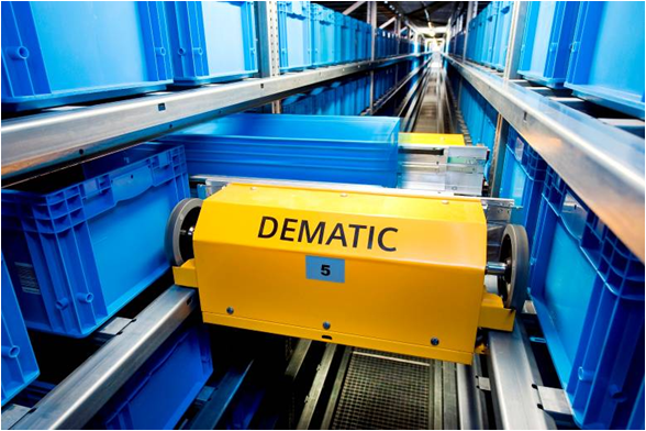 Multishuttle Cart - Photo Courtesy of Dematic