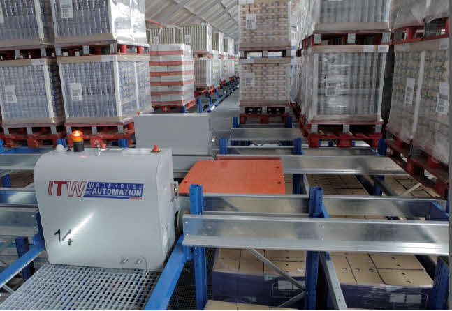 Automated Pallet Shuttle Cart System: Photo Courtesy of  ITW  Warehouse Automation