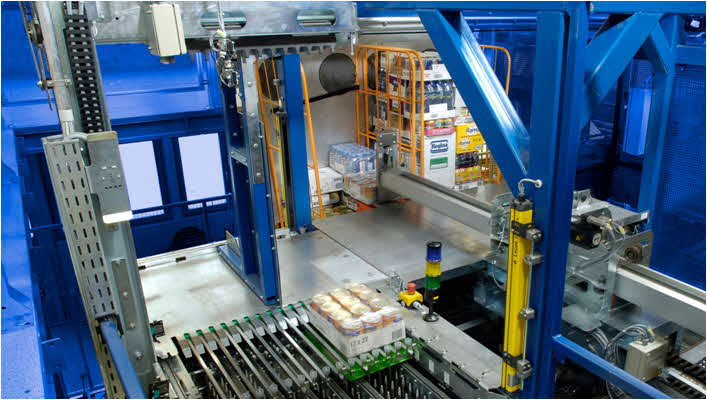 Automated Mixed SKU Rolltainer Assembly - Photo Courtesy of Witron